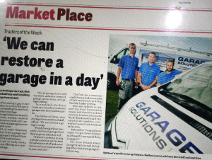Garage Solutions Newspaper Feature